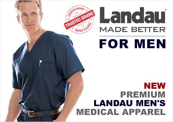 landau mens medical scrubs