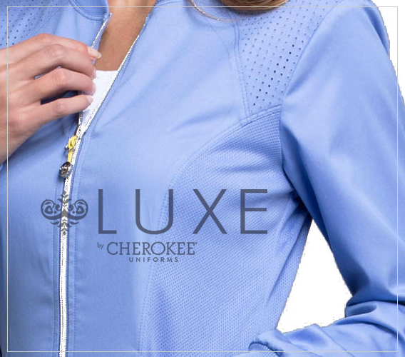 Shop his and hers LUXE scrubs online.