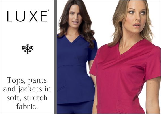 luxe brand uniforms and scrubs
