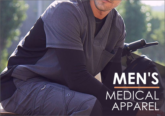 top brand men's medical uniforms and scrubs