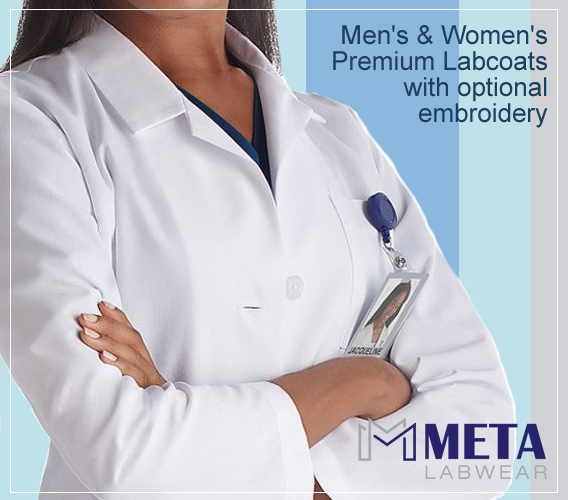 Meta labcoats for men and women with optional custom embroidery/monnogramming