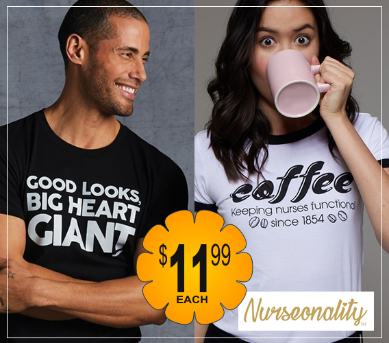 Nurseonality tees on sale - you choose - only $11.99 ea!