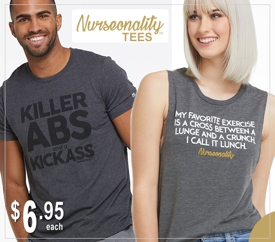 message tees - nurseonality slogan tees  - final sale prince - $6.95 each