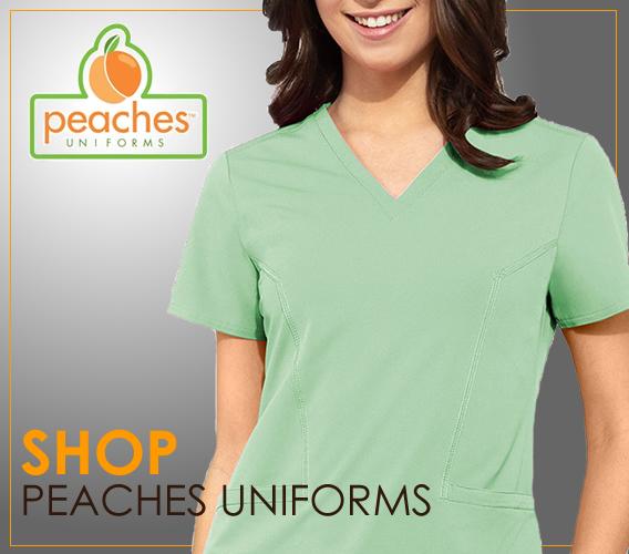Shop Buy Peaches nursing uniforms and scrubs online