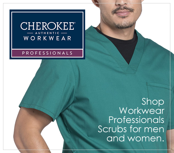 Shop Authentic Cherokee Workwear Professionals SCrubs for men and women