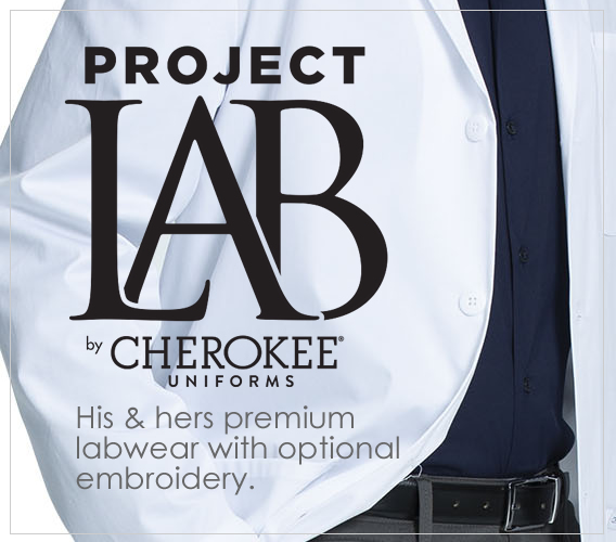 PROJECT LAB - Premium Cherokee brand lab coats with optional embroidery