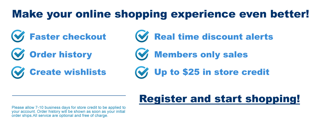 The benefits of shopping with a registered account versus checking out as a guest
