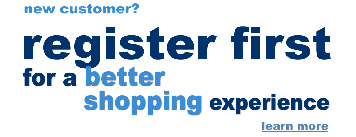 Register first for a better shopping experience