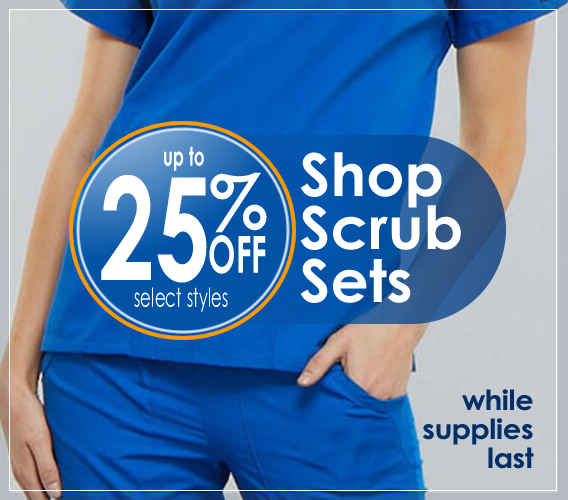 Shop scrub sets | Unisex and womens styles (top and pant included) up to 25% OFF