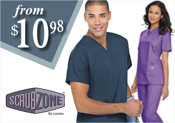 New Scrub Zone uniforms and scrubs from $10.98