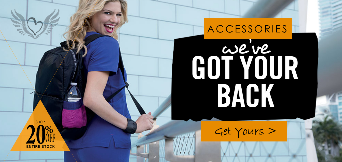 shop and buy nursing accessories including shoes, backpacks, bags and sock and so much more!