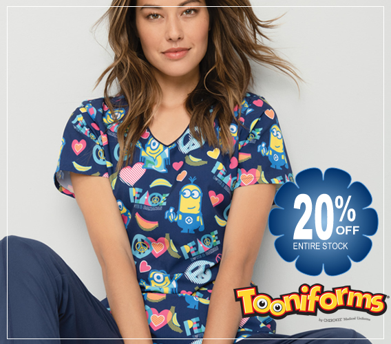 shop Tooniforms  - printed scrub tops and jackets and hats