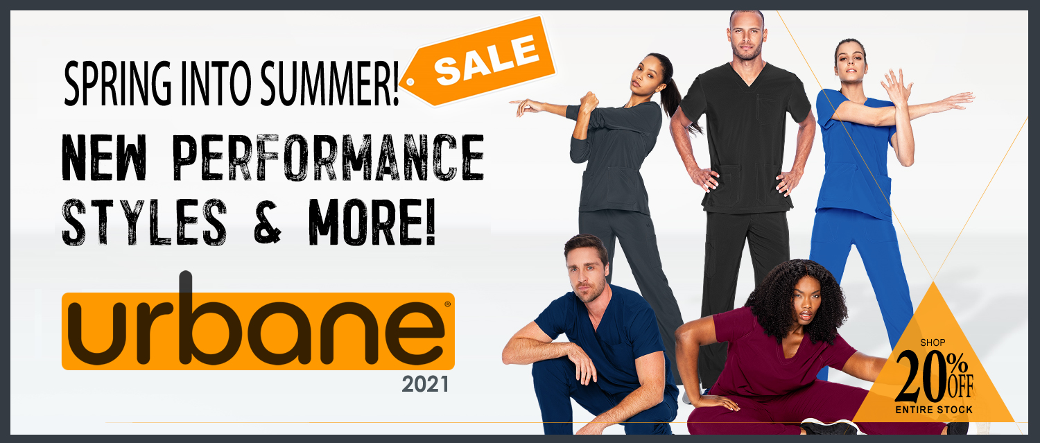 Shop and buy the newest Urbane brand uniforms and scrubs and take advantage of these great prices!