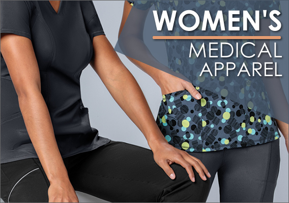 women's nursing and medical uniforms and scrubs