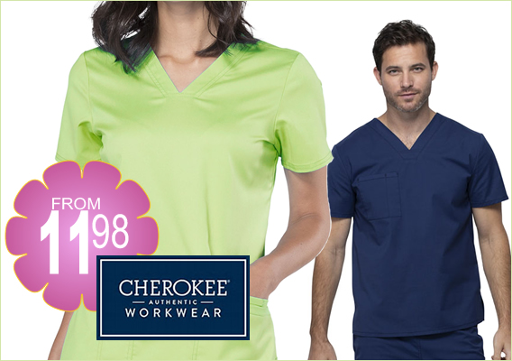 authentic cherokee workwear from $11.98