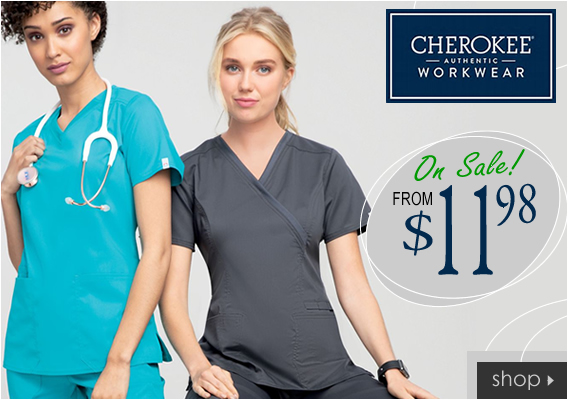authentic cherokee workwear scrubs from $11.98