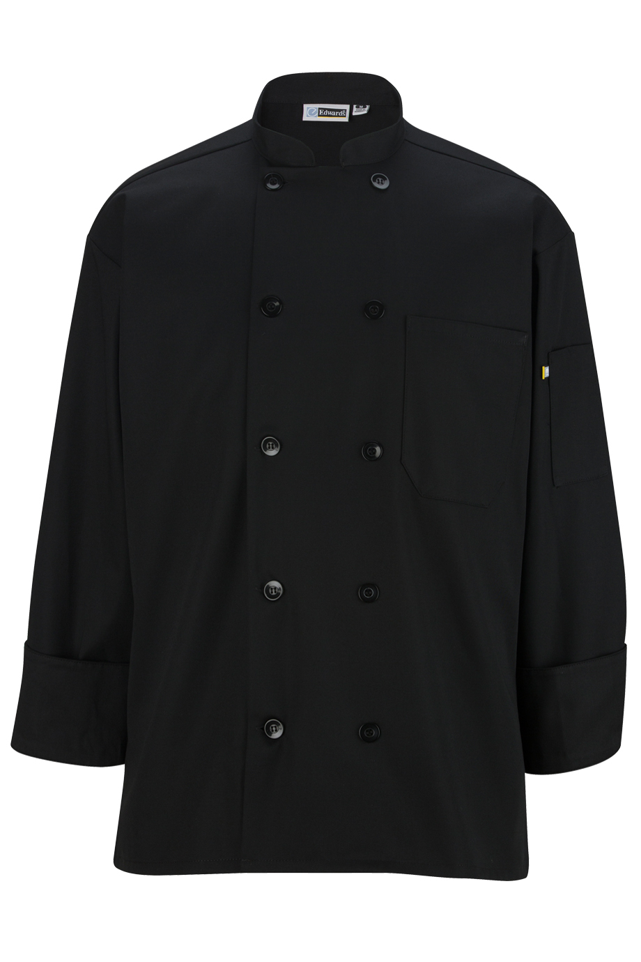 Black Long Sleeve Chef Coat-Edwards