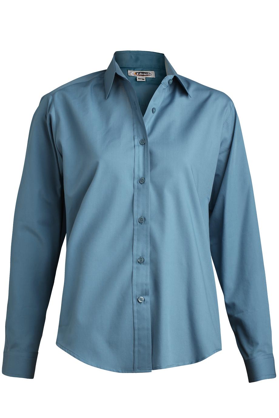 3f7f8552 Buy Edwards Ladies Long Sleeve Value Broadcloth Shirt - Edwards ...