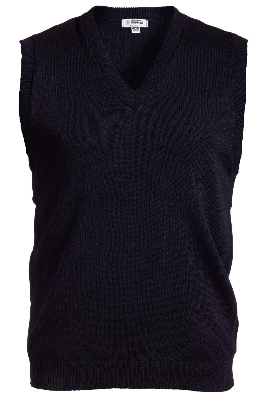 Edwards V-Neck Acrylic Sweater Vest-Edwards
