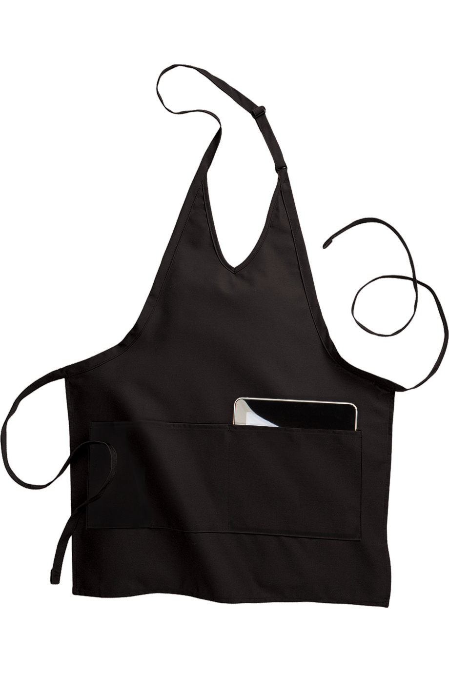 Edwards 2-Pocket V-Neck Bib Apron-Edwards