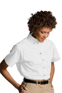 Women's Easy Care Short Sleeve Poplin Shirt-Edwards
