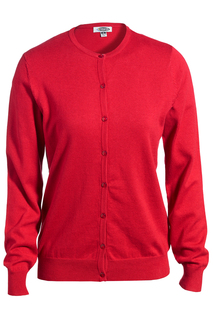Edwards Ladies Jewel Neck Fine Gauge Cardigan Sweater-Edwards