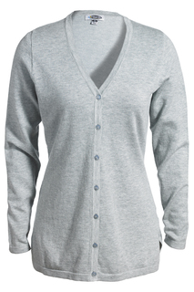 Edwards Ladies V-Neck Fine Gauge Long Cardigan Sweater-Edwards