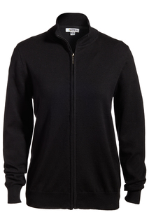 Edwards Ladies Full-Zip Fine Gauge Cardigan Sweater-Edwards
