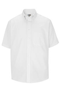 Edwards Mens Short Sleeve Oxford Shirt-Edwards