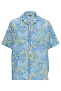 Edwards Tropical Palm Tree Camp Shirt-Edwards