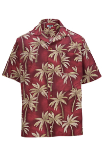 Edwards Tropical Palm Tree Camp Shirt