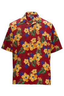 Edwards Hibiscus Multi-Color Camp Shirt