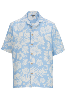 Edwards Hibiscus 2-Color Camp Shirt-Edwards