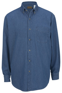 Edwards Denim Heavyweight Long Sleeve Shirt-Edwards