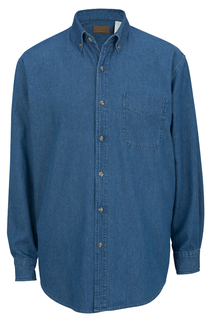 Edwards Denim Midweight Long Sleeve Shirt-Edwards