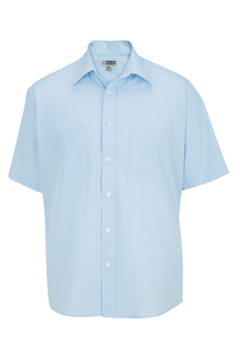Edwards Mens 2-Pocket Broadcloth Short Sleeve Shirt-Edwards