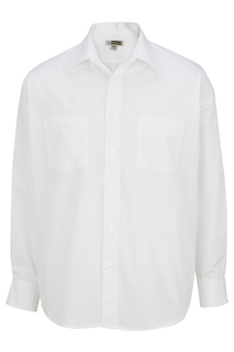 Edwards Hospitality Shirts, Blouses, Polos & Camps Mens 2-Pocket Broadcloth Long Sleeve Shirt-Edwards