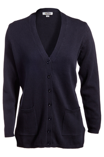 Edwards Ladies V-Neck Long Cardigan Sweater-Edwards