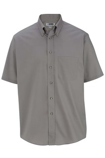 Edwards Hospitality Public Safety Shirts, Blouses, Polos & Camps Mens Easy Care Short Sleeve Poplin Shirt-Edwards
