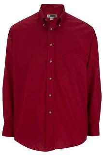 Edwards Mens Easy Care Long Sleeve Poplin Shirt