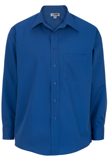 Edwards Mens Easy Care Point Collar Poplin Shirt-Edwards