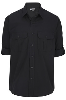 Edwards Mens Poplin Roll Up Sleeve Shirt