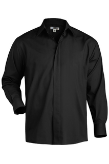 Edwards Hospitality Shirts, Blouses, Polos & Camps Mens Cafe Shirt-Long Sleeve-Edwards