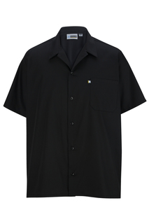 Edwards Button Front Shirt With Mesh Back-