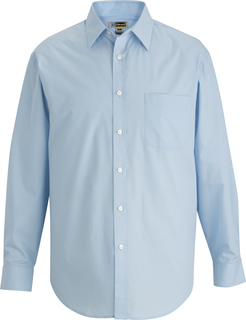 Edwards Mens Essential Broadcloth Shirt Long Sleeve-Edwards