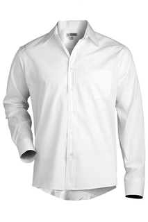 Edwards Hospitality Shirts, Blouses, Polos & Camps Mens Long Sleeve Value Broadcloth Shirt-Edwards