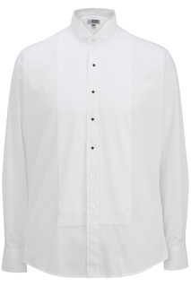 Edwards Mens Wing Collar Tuxedo Shirt-Edwards