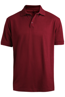 Edwards Hospitality Tops Mens Blended Pique Short Sleeve Polo-Edwards