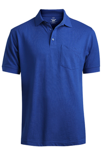 Edwards Blended Pique Short Sleeve Polo With Pocket-Edwards