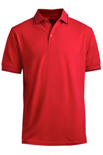 Edwards Blended Pique Short Sleeve Polo With Tipped Collar/Sleeve-Edwards